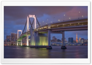 Rainbow Bridge, Tokyo HD Wide Wallpaper for Widescreen