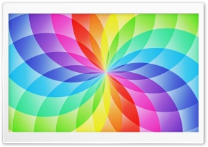 Rainbow Circles HD Wide Wallpaper for Widescreen