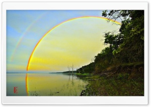 Rainbow, Clinton Lake HD Wide Wallpaper for 4K UHD Widescreen desktop & smartphone
