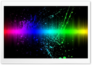 Rainbow Color Splatter HD Wide Wallpaper for Widescreen