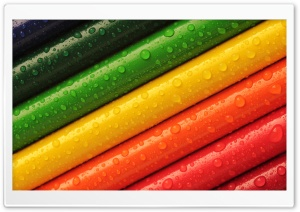 Rainbow Colored Pencils HD Wide Wallpaper for Widescreen