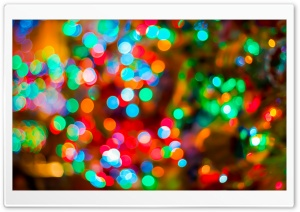 Rainbow Colors Bokeh HD Wide Wallpaper for Widescreen