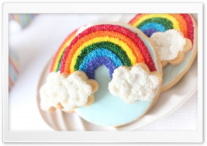 Rainbow Cookies HD Wide Wallpaper for Widescreen
