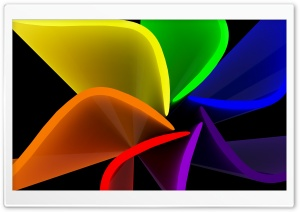 Rainbow Curve HD Wide Wallpaper for Widescreen