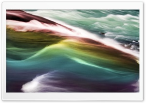 Rainbow Gullfoss HD Wide Wallpaper for Widescreen