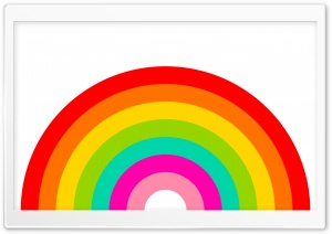 Rainbow Illustration HD Wide Wallpaper for Widescreen