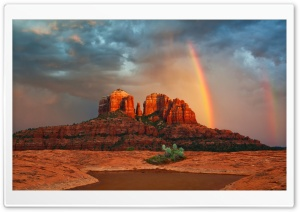 Rainbow In Arizona HD Wide Wallpaper for 4K UHD Widescreen desktop & smartphone