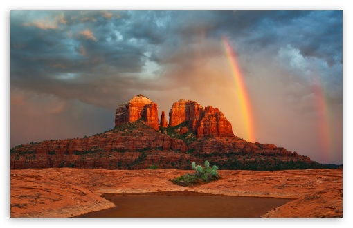 Rainbow In Arizona HD wallpaper for Wide 16:10 5:3 Widescreen WHXGA WQXGA WUXGA WXGA WGA ; HD 16:9 High Definition WQHD QWXGA 1080p 900p 720p QHD nHD ; Standard 4:3 5:4 3:2 Fullscreen UXGA XGA SVGA QSXGA SXGA DVGA HVGA HQVGA devices ( Apple PowerBook G4 iPhone 4 3G 3GS iPod Touch ) ; Tablet 1:1 ; iPad 1/2/Mini ; Mobile 4:3 5:3 3:2 16:9 5:4 - UXGA XGA SVGA WGA DVGA HVGA HQVGA devices ( Apple PowerBook G4 iPhone 4 3G 3GS iPod Touch ) WQHD QWXGA 1080p 900p 720p QHD nHD QSXGA SXGA ;