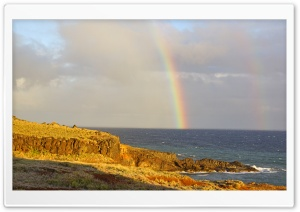 Rainbow In Maui, Hawaii HD Wide Wallpaper for Widescreen
