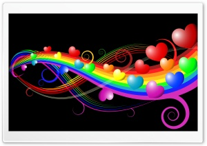 Rainbow Love HD Wide Wallpaper for Widescreen