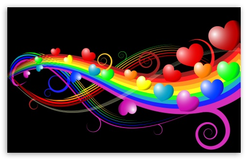 Rainbow Love HD wallpaper for Wide 16:10 5:3 Widescreen WHXGA WQXGA WUXGA WXGA WGA ; HD 16:9 High Definition WQHD QWXGA 1080p 900p 720p QHD nHD ; Other 3:2 DVGA HVGA HQVGA devices ( Apple PowerBook G4 iPhone 4 3G 3GS iPod Touch ) ; Mobile WVGA iPhone - WVGA WQVGA Smartphone ( HTC Samsung Sony Ericsson LG Vertu MIO ) HVGA Smartphone ( Apple iPhone iPod BlackBerry HTC Samsung Nokia ) ;