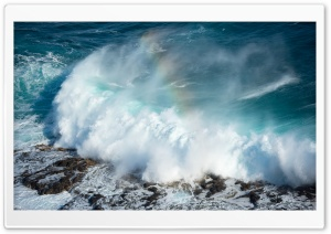 Rainbow Ocean HDR HD Wide Wallpaper for Widescreen