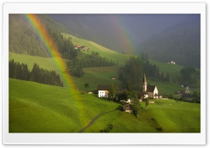 Rainbow Over South Tyrol, Austria HD Wide Wallpaper for Widescreen