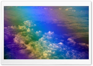 Rainbow over The Clouds Ultra HD Wallpaper for 4K UHD Widescreen desktop, tablet & smartphone