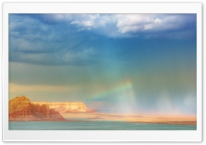 Rainbow Over The Sea HD Wide Wallpaper for 4K UHD Widescreen desktop & smartphone
