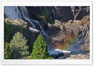 Rainbow Over Waterfall HD Wide Wallpaper for 4K UHD Widescreen desktop & smartphone