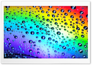 Rainbow Raindrops HD Wide Wallpaper for Widescreen