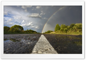 Rainbow Road HD Wide Wallpaper for Widescreen