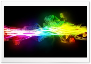 Rainbow Smoke Contrast HD Wide Wallpaper for Widescreen