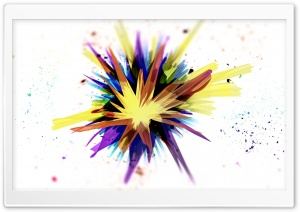 Rainbow Splash HD Wide Wallpaper for Widescreen