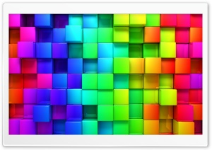 Rainbow Vivid Colors Cubes HD Wide Wallpaper for 4K UHD Widescreen desktop & smartphone
