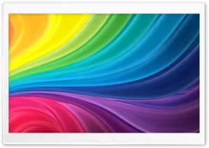 Rainbow Waves HD Wide Wallpaper for 4K UHD Widescreen desktop & smartphone