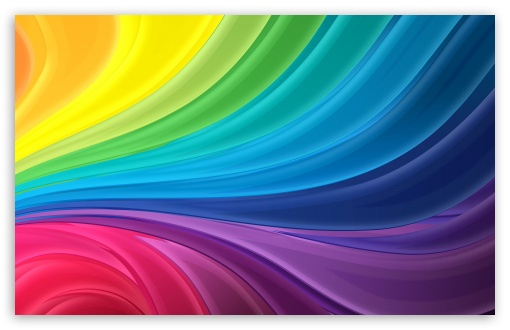 Rainbow Waves HD wallpaper for Wide 16:10 Widescreen WHXGA WQXGA WUXGA WXGA ; Standard 4:3 Fullscreen UXGA XGA SVGA ; iPad 1/2/Mini ; Mobile 4:3 - UXGA XGA SVGA ;