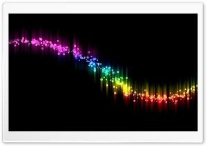 Rainbow Wavy Lines HD Wide Wallpaper for Widescreen