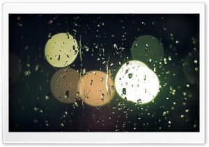 Raindrops On Glass HD Wide Wallpaper for Widescreen