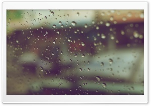 Raindrops On Window HD Wide Wallpaper for Widescreen