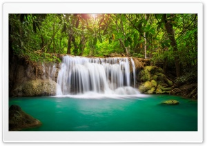 Rainforest Waterfall Ultra HD Wallpaper for 4K UHD Widescreen desktop, tablet & smartphone