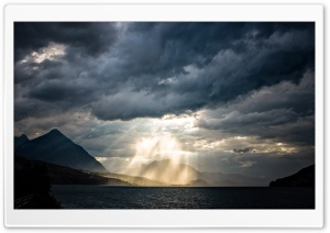 Raining Light in Interlaken HD Wide Wallpaper for Widescreen