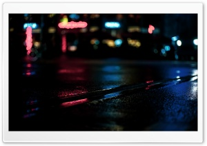 Rainy Night Ultra HD Wallpaper for 4K UHD Widescreen desktop, tablet & smartphone
