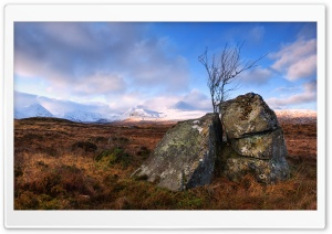 Rannoch Moor Land, Scotland HD Wide Wallpaper for Widescreen