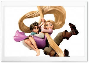Rapunzel And Flynn HD Wide Wallpaper for Widescreen