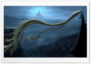 Rapunzel Tower HD Wide Wallpaper for Widescreen