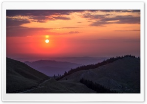 Rarau Mountains at Sunset, Romania HD Wide Wallpaper for Widescreen