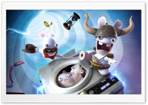 Raving Rabbids Travel In Time HD Wide Wallpaper for Widescreen