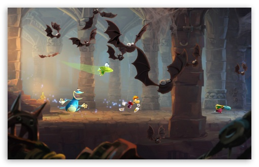 Rayman Legends Batcave HD wallpaper for Wide 16:10 5:3 Widescreen WHXGA WQXGA WUXGA WXGA WGA ; HD 16:9 High Definition WQHD QWXGA 1080p 900p 720p QHD nHD ; Standard 3:2 Fullscreen DVGA HVGA HQVGA devices ( Apple PowerBook G4 iPhone 4 3G 3GS iPod Touch ) ; Mobile 5:3 3:2 16:9 - WGA DVGA HVGA HQVGA devices ( Apple PowerBook G4 iPhone 4 3G 3GS iPod Touch ) WQHD QWXGA 1080p 900p 720p QHD nHD ;