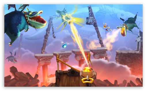Rayman Legends Dragon Attack HD wallpaper for Wide 5:3 Widescreen WGA ; HD 16:9 High Definition WQHD QWXGA 1080p 900p 720p QHD nHD ; Mobile 5:3 16:9 - WGA WQHD QWXGA 1080p 900p 720p QHD nHD ;