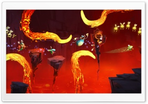 Rayman Legends Lava Chase HD Wide Wallpaper for Widescreen