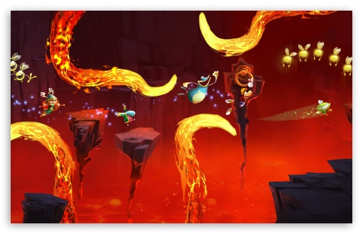 Rayman Legends Lava Chase HD wallpaper for Wide 16:10 Widescreen WHXGA WQXGA WUXGA WXGA ; HD 16:9 High Definition WQHD QWXGA 1080p 900p 720p QHD nHD ; UHD 16:9 WQHD QWXGA 1080p 900p 720p QHD nHD ; Mobile 16:9 - WQHD QWXGA 1080p 900p 720p QHD nHD ;
