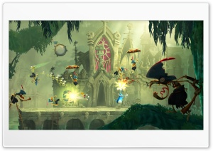 Rayman Legends Parachute Punch HD Wide Wallpaper for Widescreen