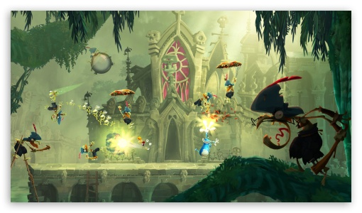Rayman Legends Parachute Punch HD wallpaper for HD 16:9 High Definition WQHD QWXGA 1080p 900p 720p QHD nHD ; UHD 16:9 WQHD QWXGA 1080p 900p 720p QHD nHD ; Mobile 16:9 - WQHD QWXGA 1080p 900p 720p QHD nHD ;