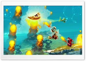 Rayman Legends Shield Fly HD Wide Wallpaper for Widescreen