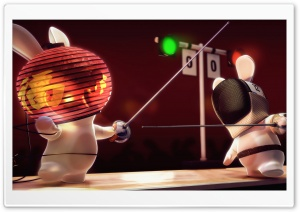 Rayman Raving Rabbids Fencing HD Wide Wallpaper for Widescreen