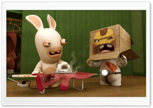 Rayman Raving Rabbids Funny HD Wide Wallpaper for Widescreen
