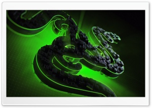 Razer Green Background Ultra HD Wallpaper for 4K UHD Widescreen desktop, tablet & smartphone