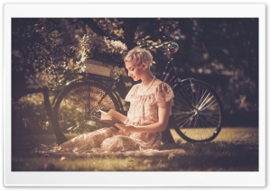 Reading Books HD Wide Wallpaper for Widescreen