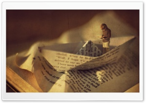 Reading Imagination HD Wide Wallpaper for Widescreen